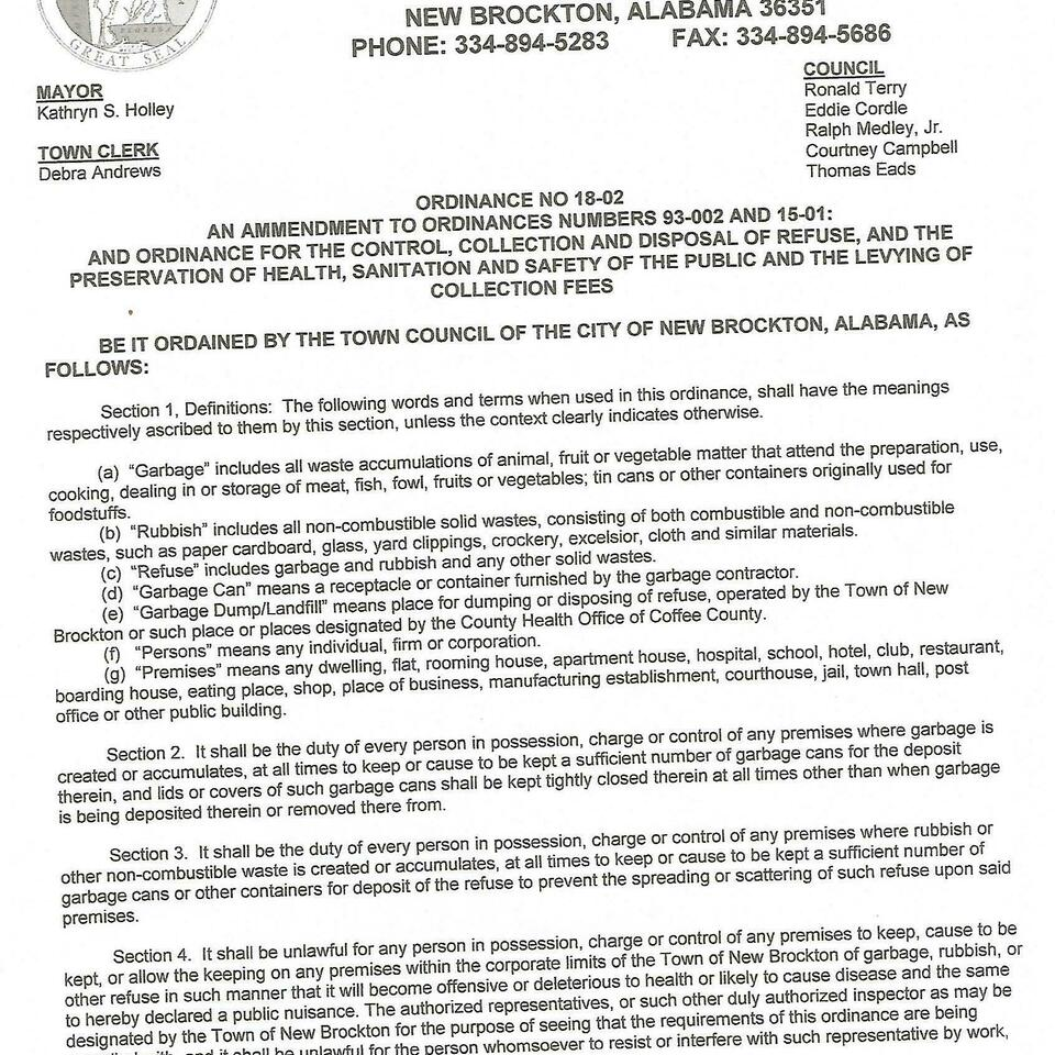 Ordinance number 18 02 page 1