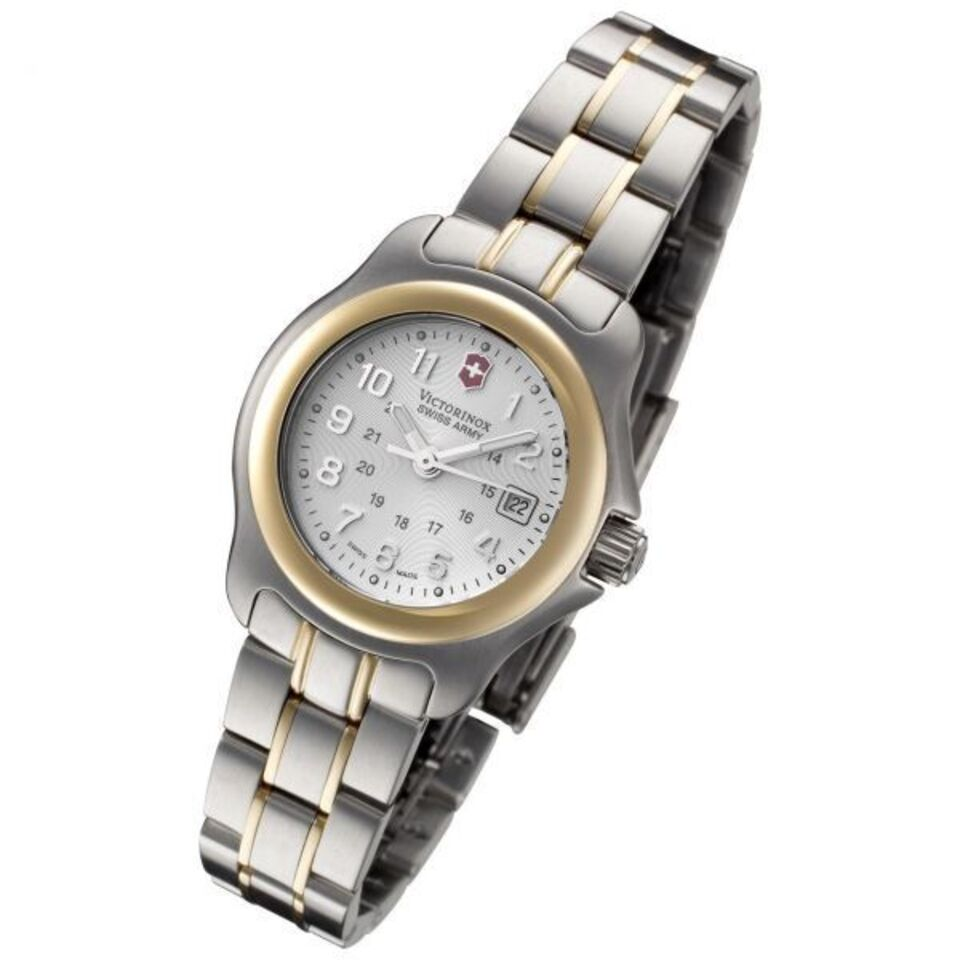 Swiss army womens tan 10 atm high grade water resistant stainless steel quartz scratch wrist watch 241216 1  1