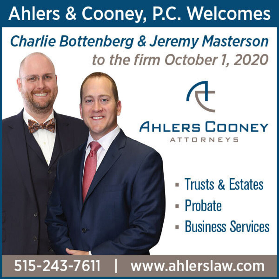 Ahlers new senior counsel ad 2x2