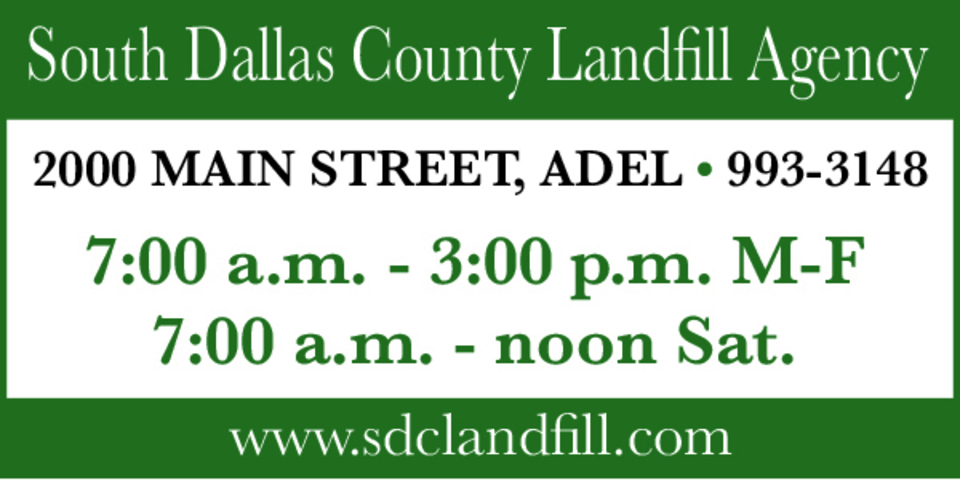 394310 south dallas county landfill 2x1in adel adv color