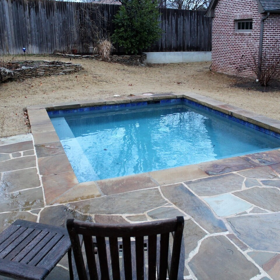 3d solutions general contractors   tulsa oklahoma   custom in ground pool and flagstone pool deck patio 1