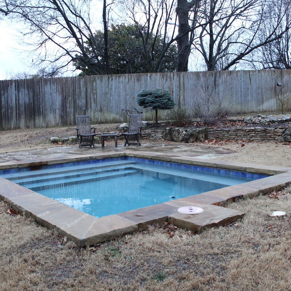 3d solutions general contractors   tulsa oklahoma   custom in ground pool and flagstone pool deck patio 2
