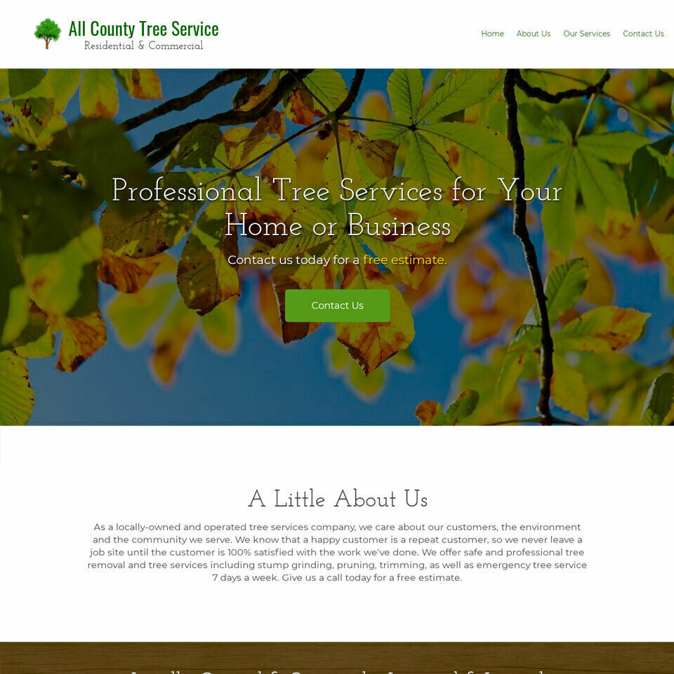 Tree services website template 960x960
