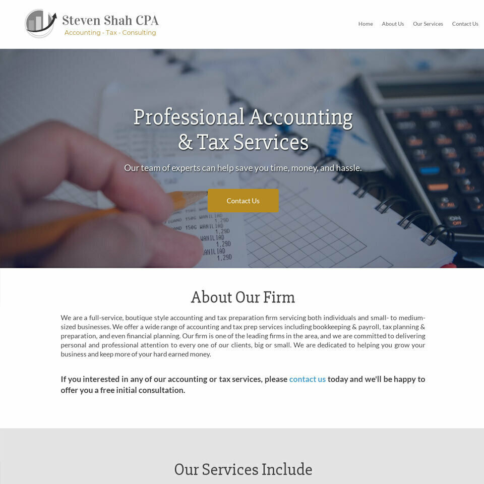 Accountant website template original