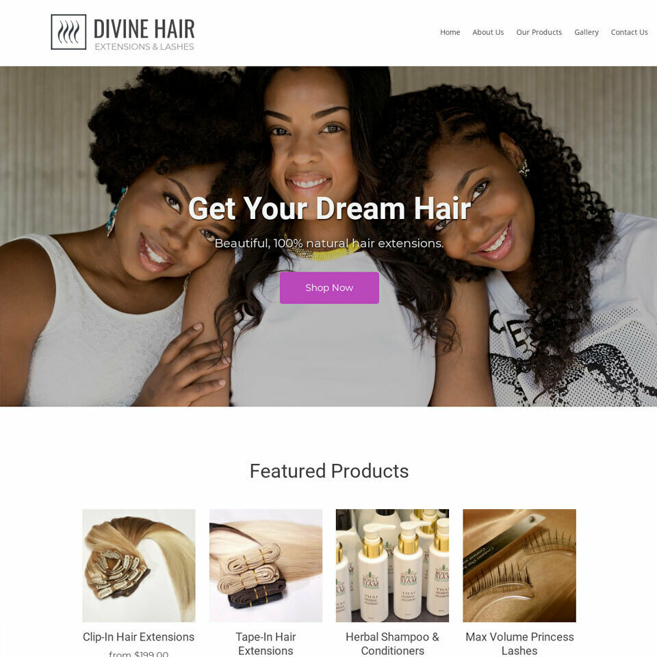 Hair extensions website template original