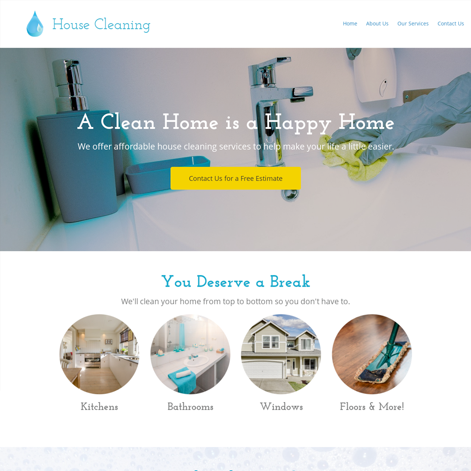 Cleaning company website design theme original