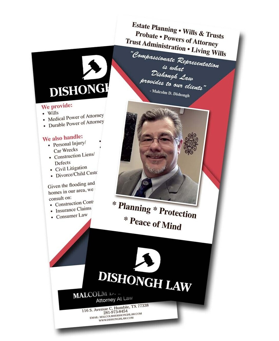 Lawyer rack card