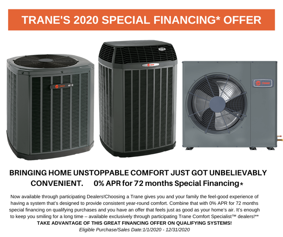 Trane special financing 2020