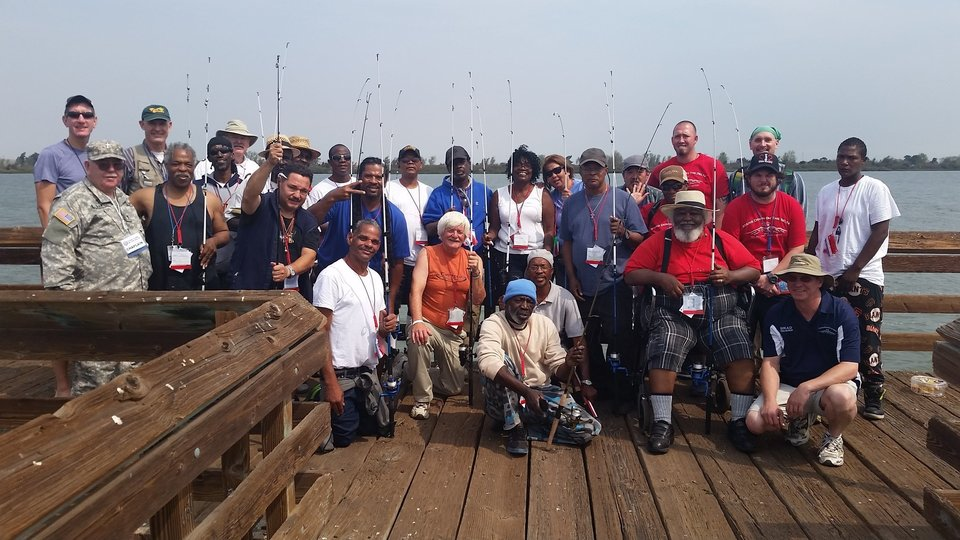 With the help of the S.F. Bay Area community we are able to take Veteran's Fishing on our Delta Shores!