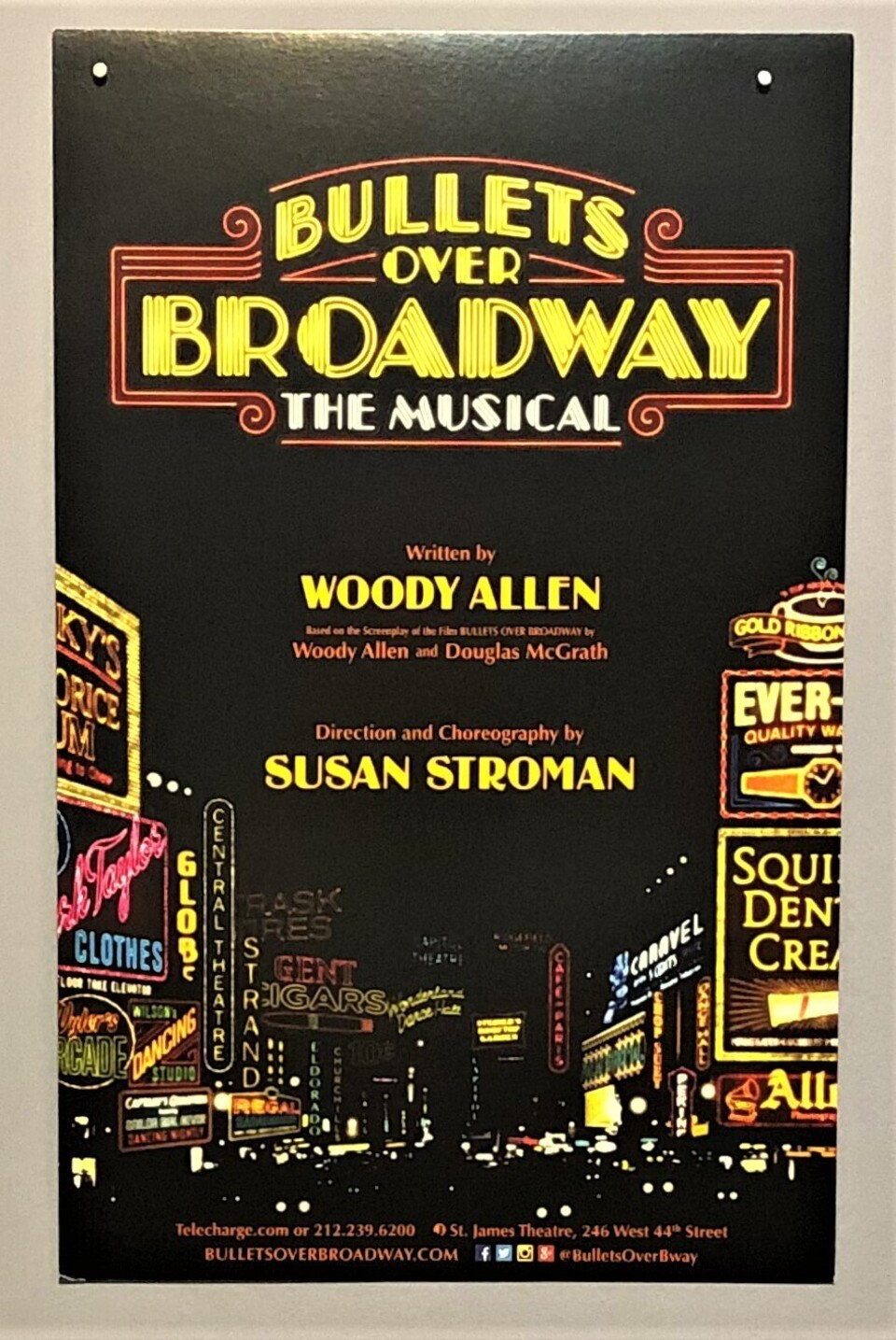 Theater bullets over broadway