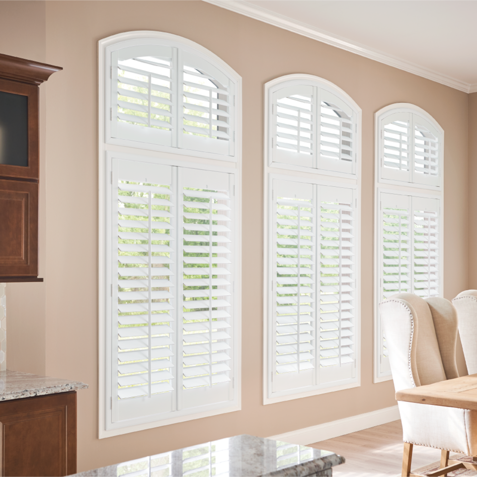 White shutters for your kitchen in Meridian