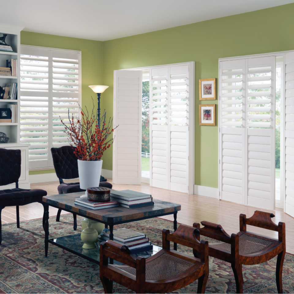 White panel shutters for your home in boise ID