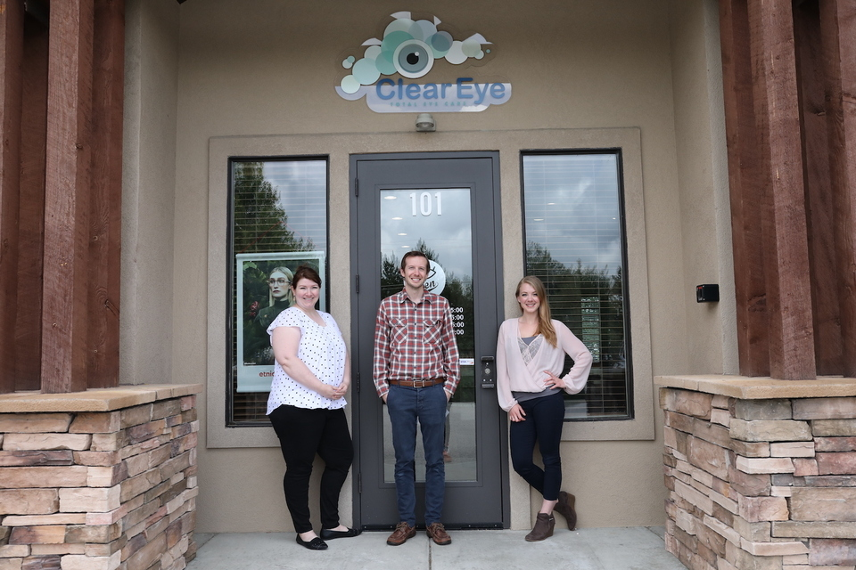 Local optometry team at clear eye total eye care