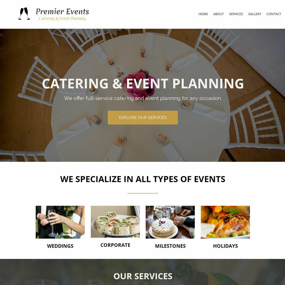 Caterer website template original