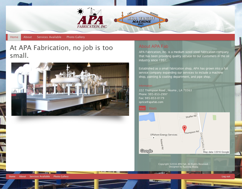 APA Fabrication