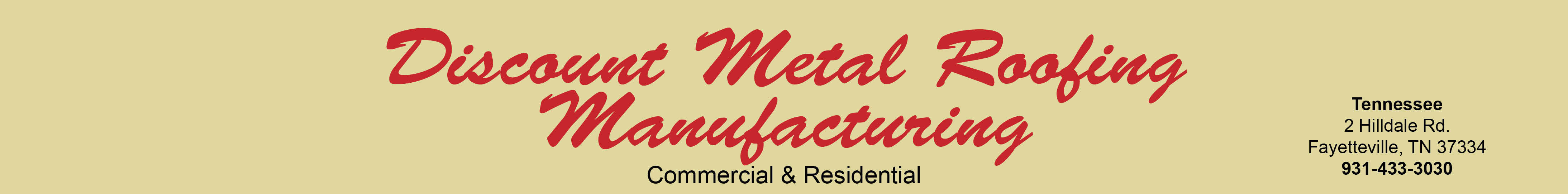 Discount Metal Roofing