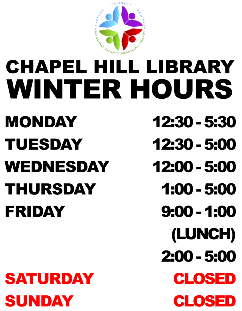 Ch winter hours