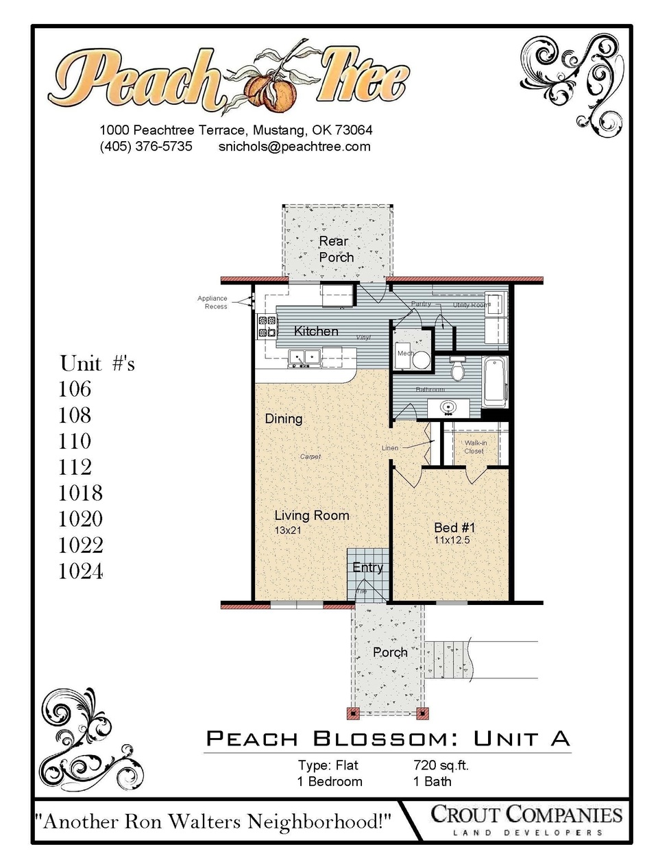 1 Bedroom - Unit A