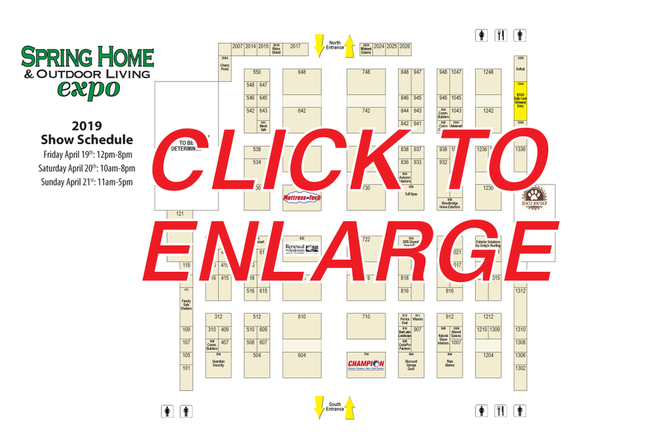 She19 booth map