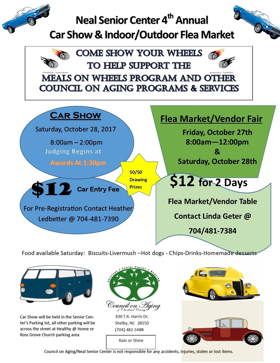 Car Show @ COA/Neal Senior Center