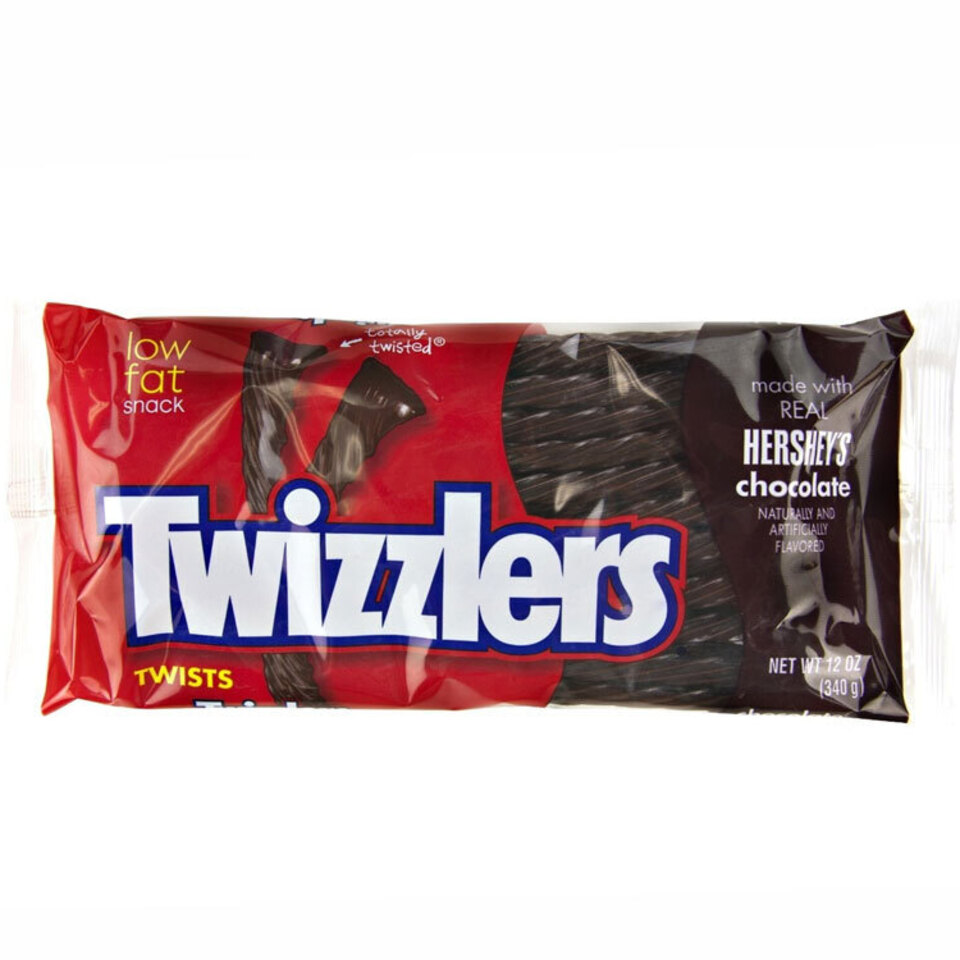 Twizzlers chocolate twists packaged candy