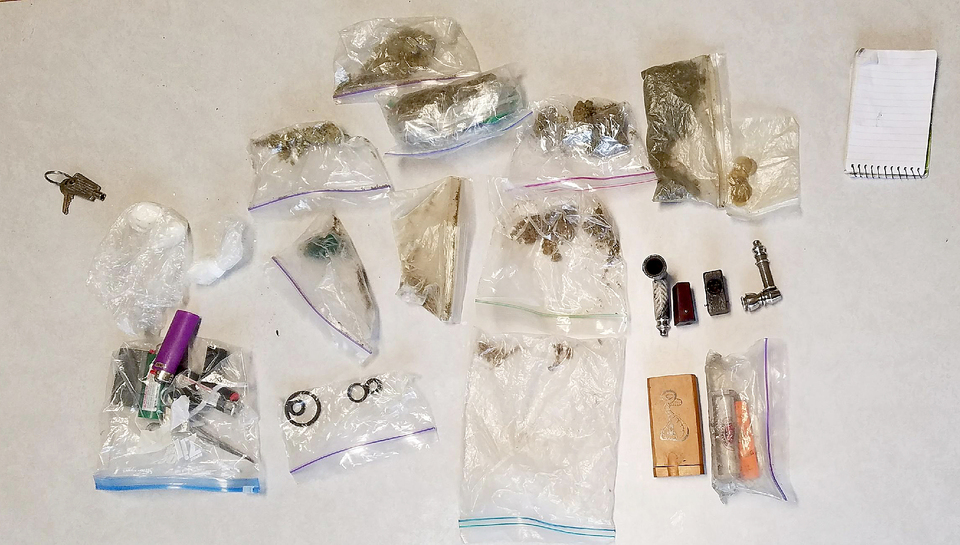 Drugs found after one vehicle accident