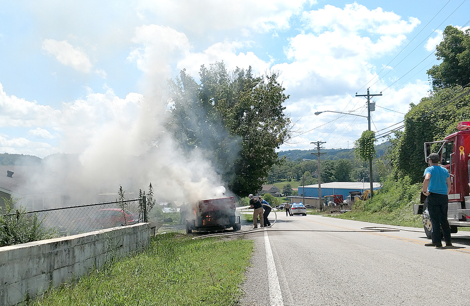 Fire Department responds to vehicle fire