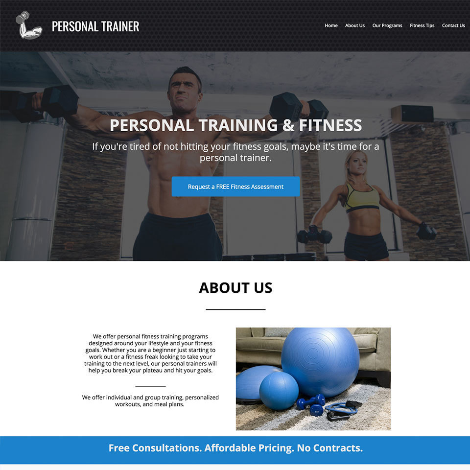 Personal trainer website design theme20171114 12678 1b1acrb 960x960