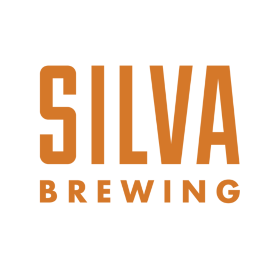 Silva brewing final logo orange print transparent background