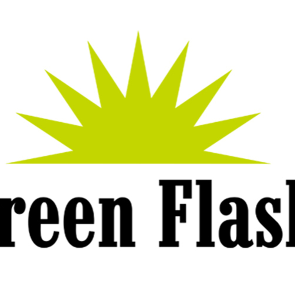 Green flash logo feature