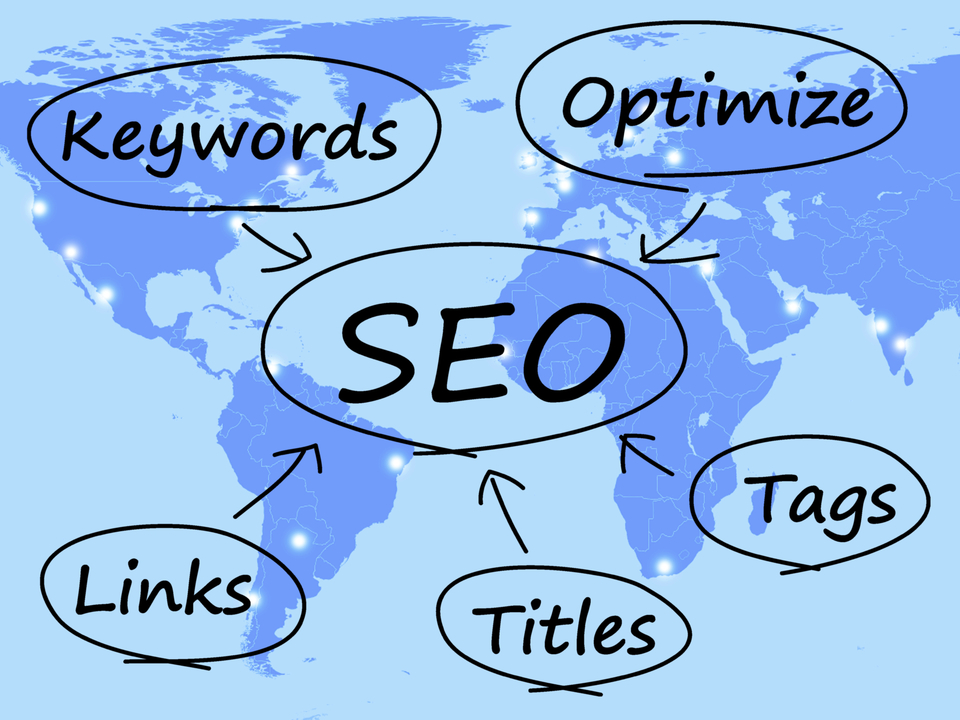 Seo diagram shows use of keywords links titles and tags zkr8e7do20160324 9069 llsw7i