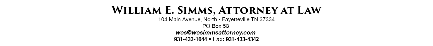 William E. Simms, Attorney