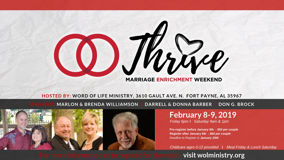 Thrive marriage enrichment weekend flyer 2