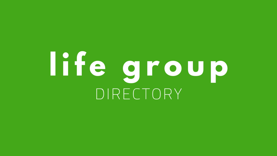 Life group directory slide green