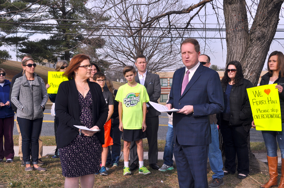 Kamenetz announces funds for new Perry Hall area middle school, Pine Grove addition