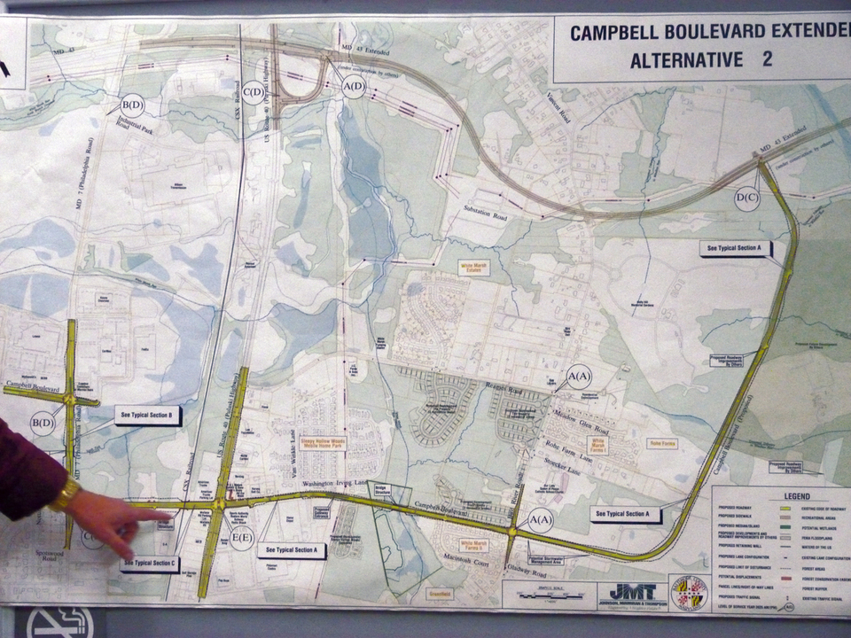 County to pay for construction of remainder of Campbell Boulevard extension