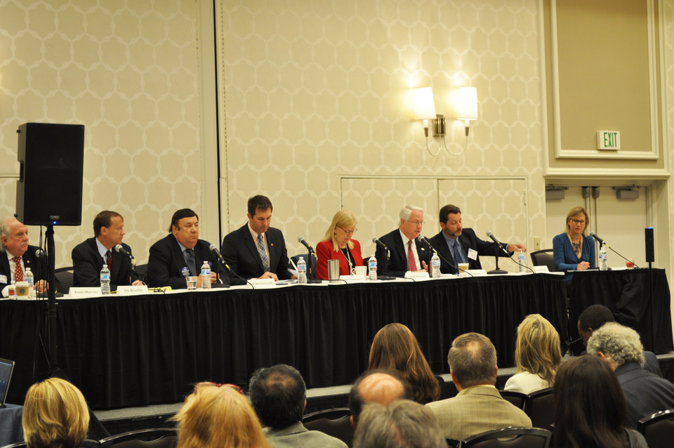 County Executive candidates take the stage at chamber forum