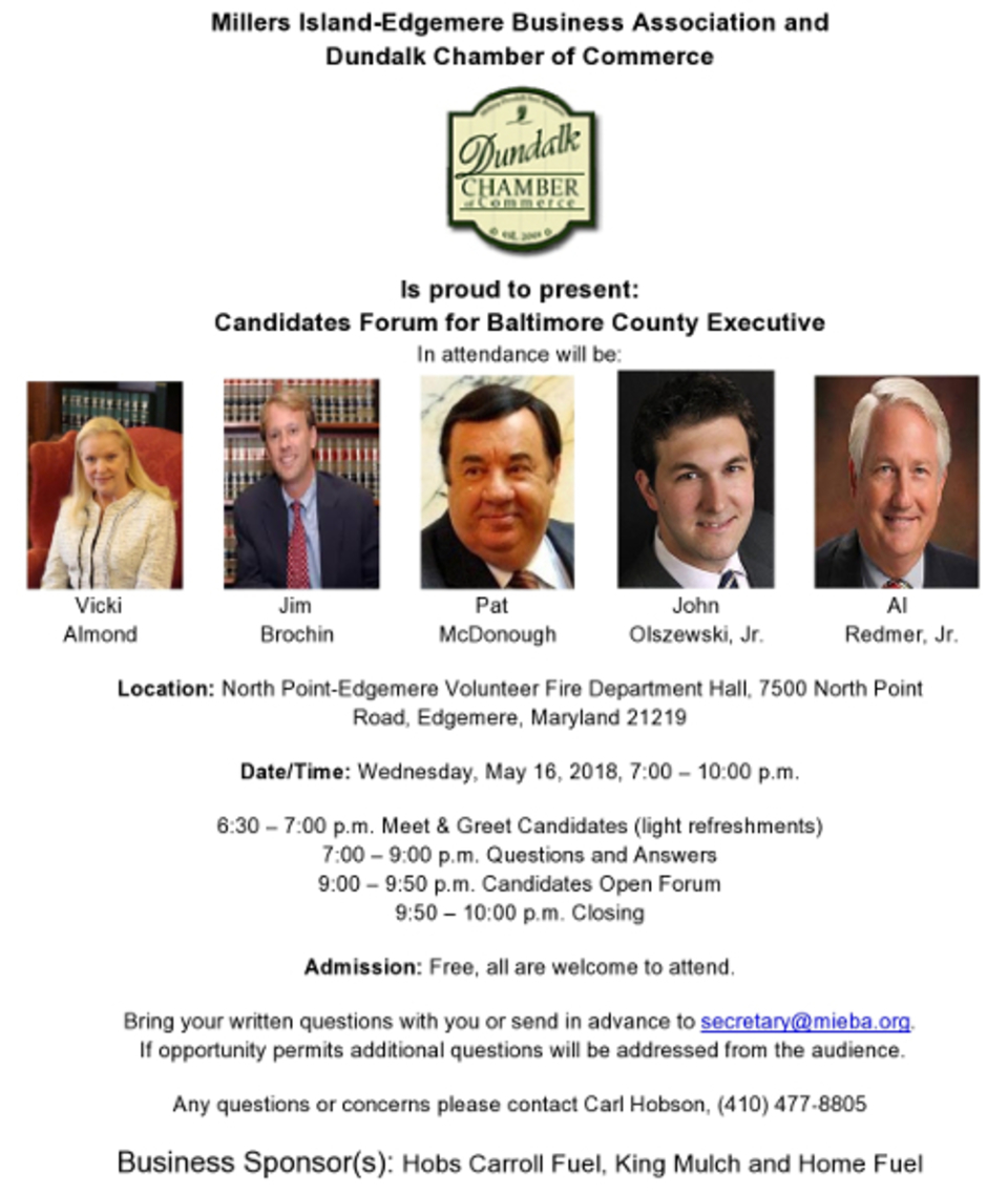 Business association to host county executive candidate forum