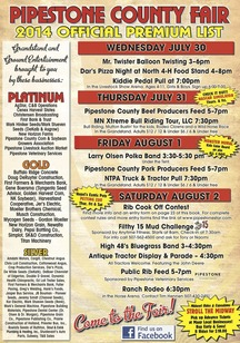 Read the 2014 Pipestone Co. Fair Premium Book